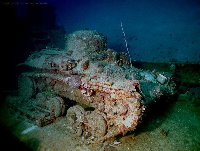 Tank in Chuuk lagoon